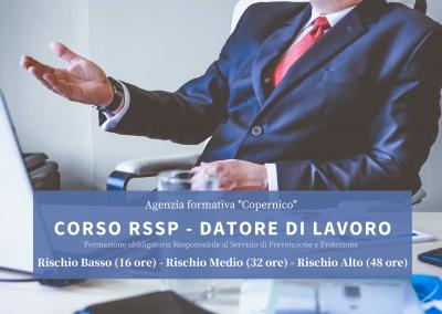 Formazione obbligatoria Responsabile al Servizio di Prevenzione e Protezione (RSPP) – datore di lavoro