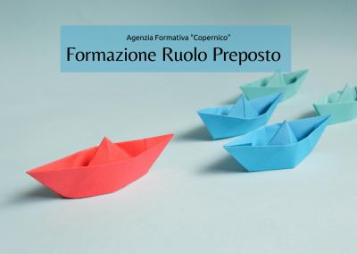 Formazione ruolo di preposto