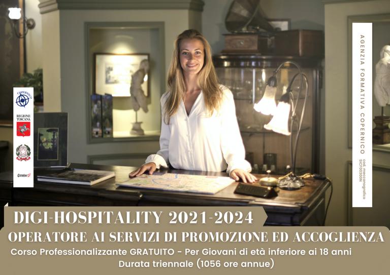 DIGI – Hospitality 2021/2024 – Operatore ai servizi di promozione e accoglienza