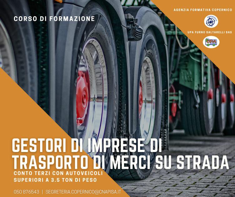 Corso completo di preparazione per l'esame di capacità professionale per autotrasporto di merci in c/terzi con veicoli superiori a 3.5 ton. di peso complessivo